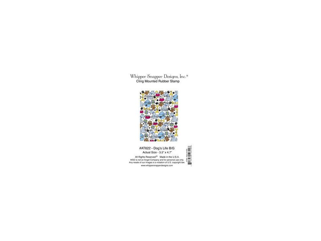 Whipper Snapper Designs - DOG´S LIFE - cling gumové razítko