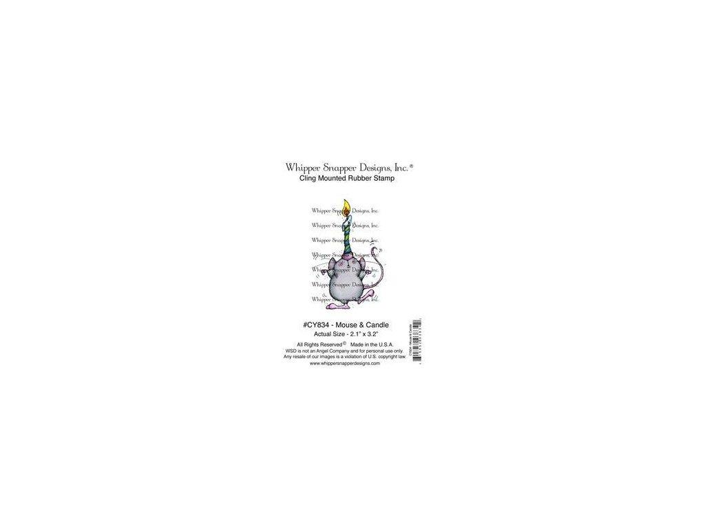 Whipper Snapper Designs - MOUSE & CANDLE - cling gumové razítko