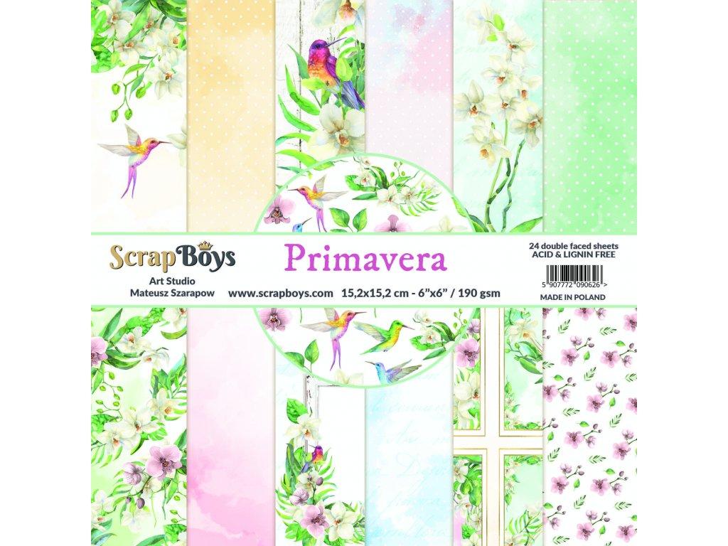 "ScrapBoys - PRIMAVERA - 6"" kompletní scrapbooková sada"