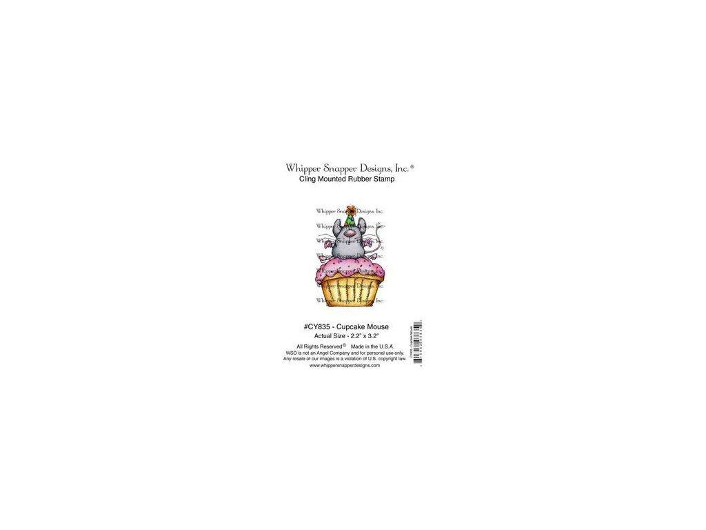 Whipper Snapper Designs - CUPCAKE MOUSE - cling gumové razítko