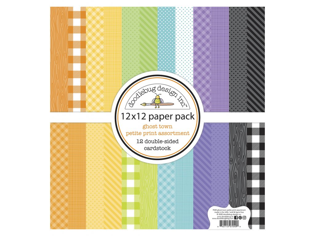doodlebug design ghost town 12x12 inch petite prin