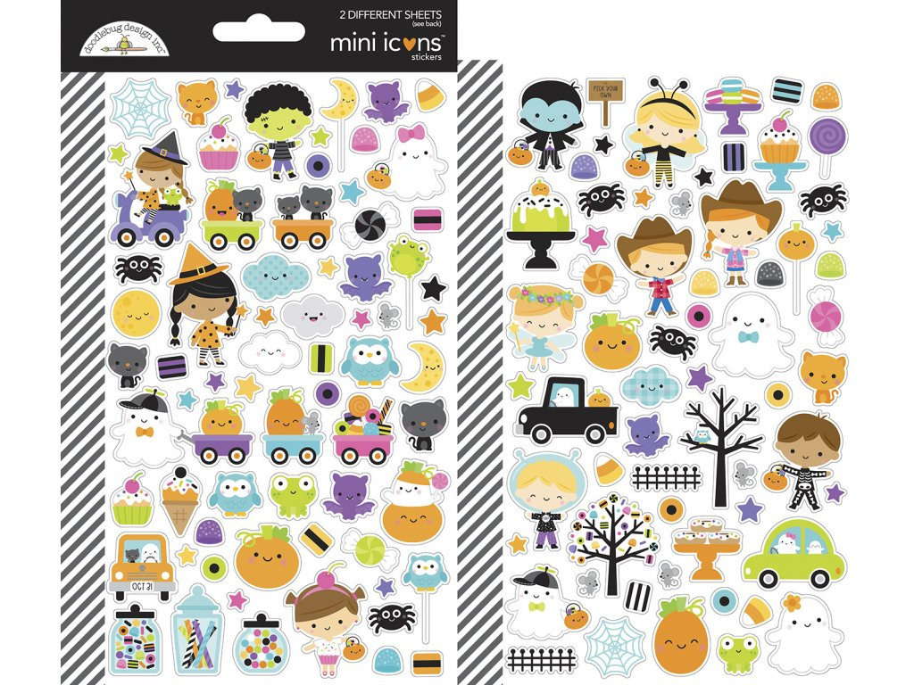 doodlebug design ghost town mini icons stickers 70