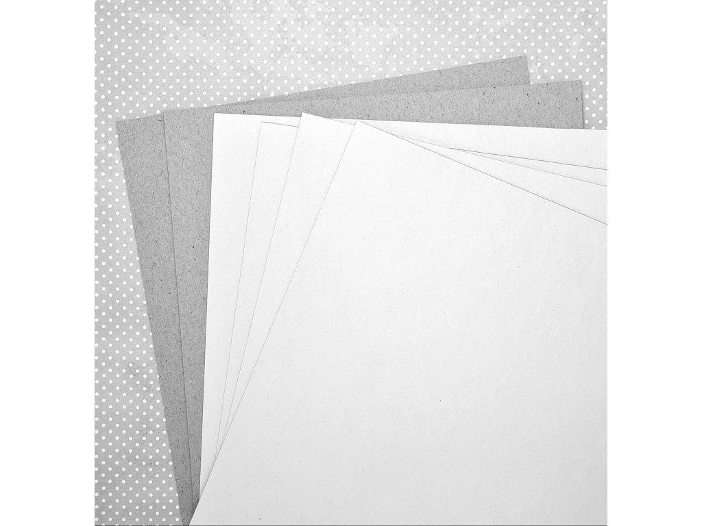 Knihařská + kašírovaná  lepenka na 3D album / 21 x 23 cm