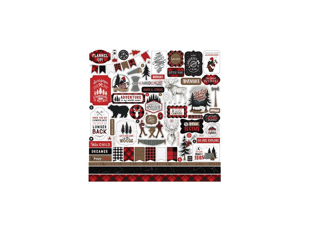echo park lets lumberjack element sticker lu225014