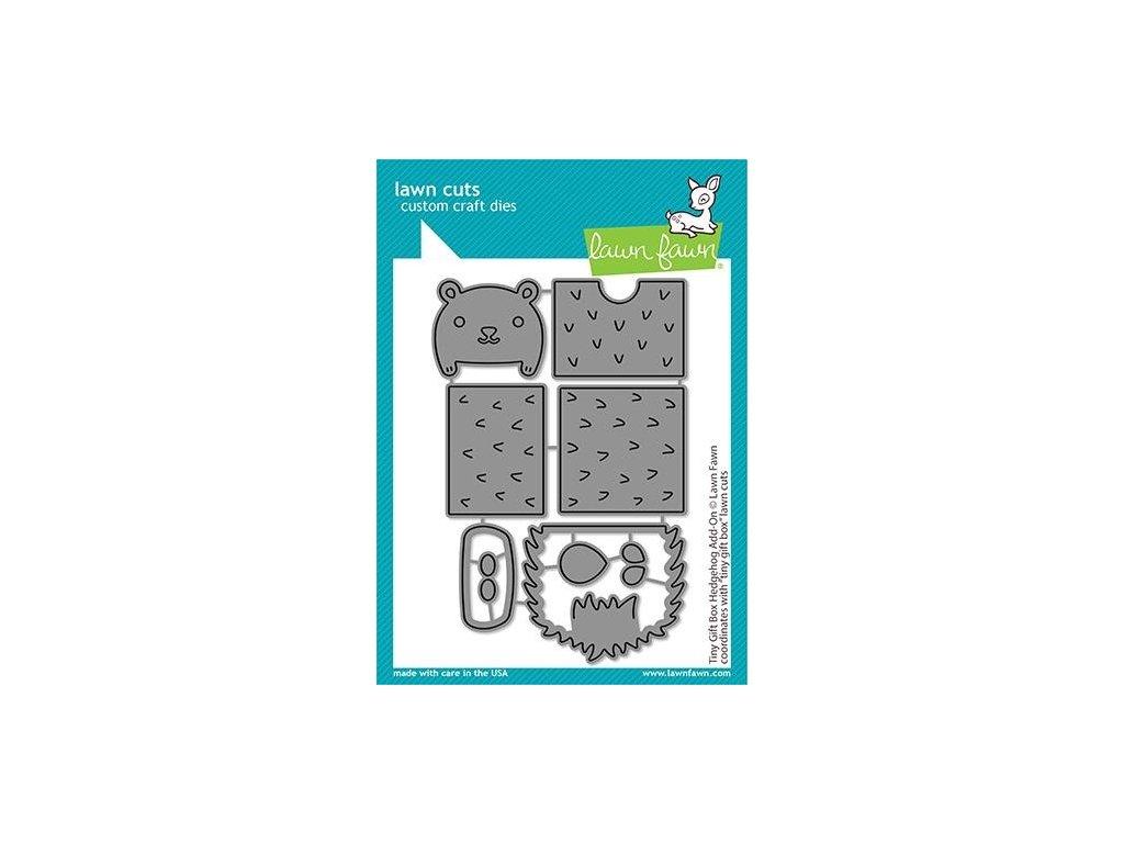 lawn fawn tiny gift box hedgehog add on dies lf243
