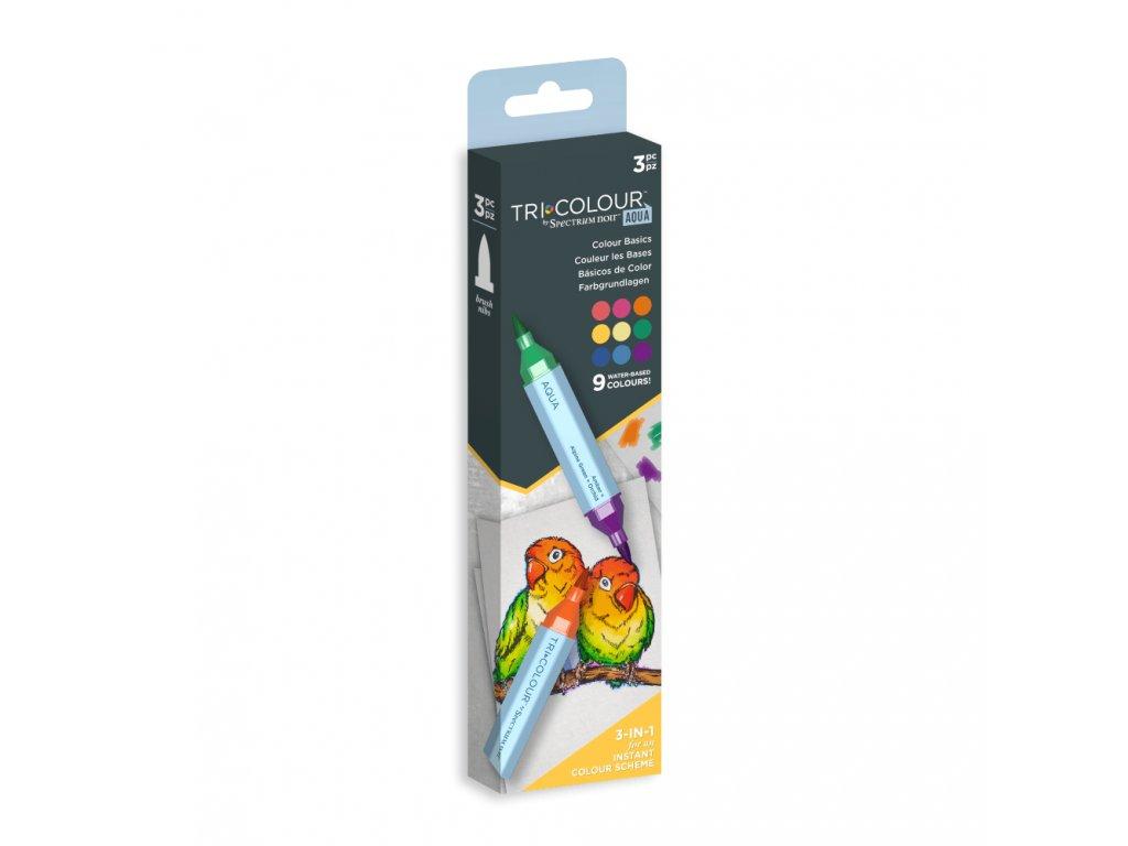 spectrum noir tricolour aqua markers colour basics