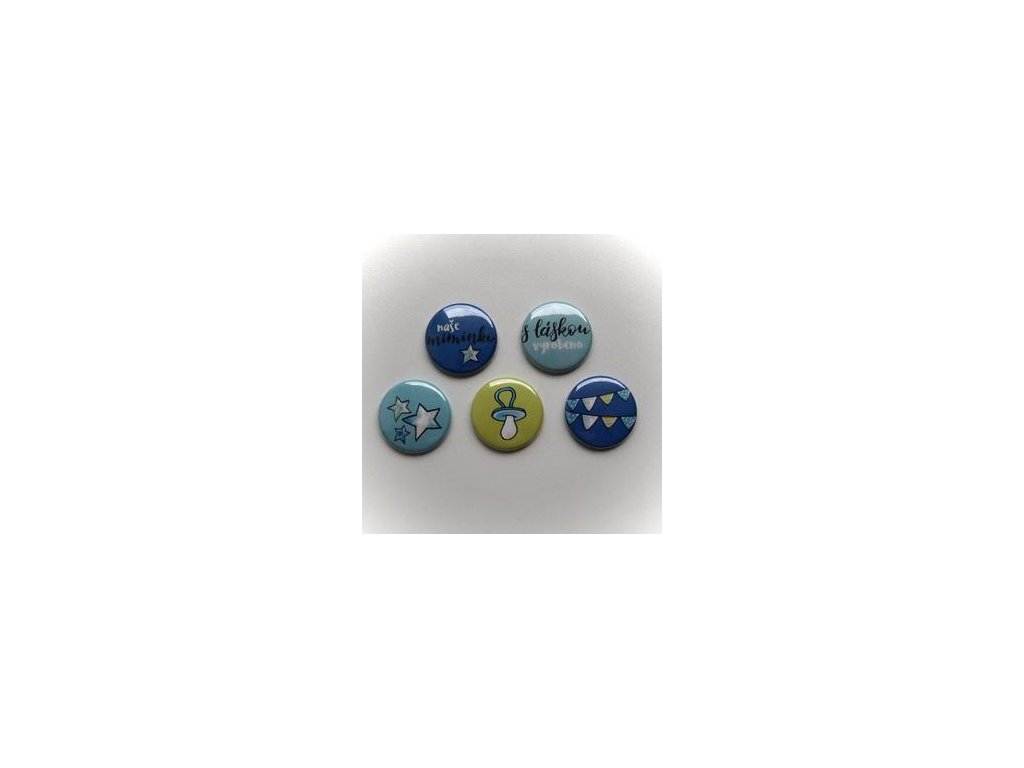 Dětská sada KLUK -  3D button / placka, 5 ks