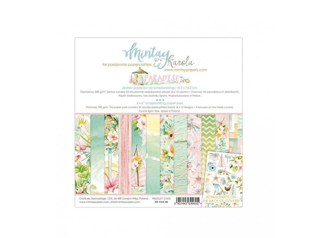 Mintay 6x6 Paper Pad Paradise PAR08