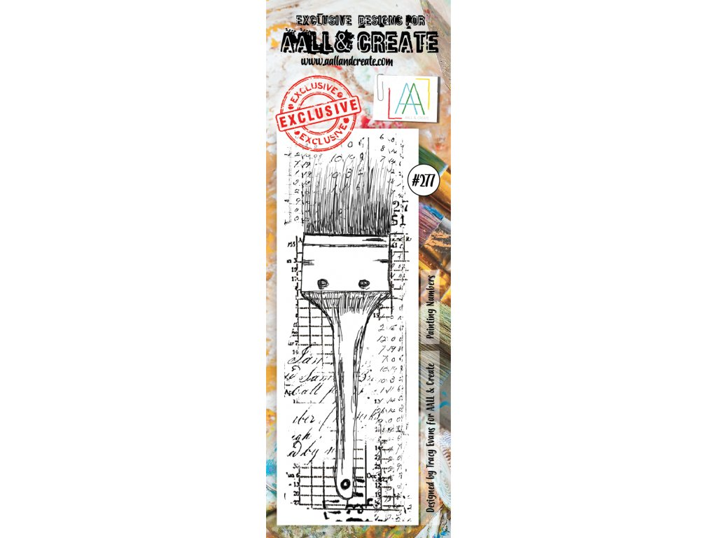 aall and create clear border stamp set 277 painting numbers by tracy evans 118092 p