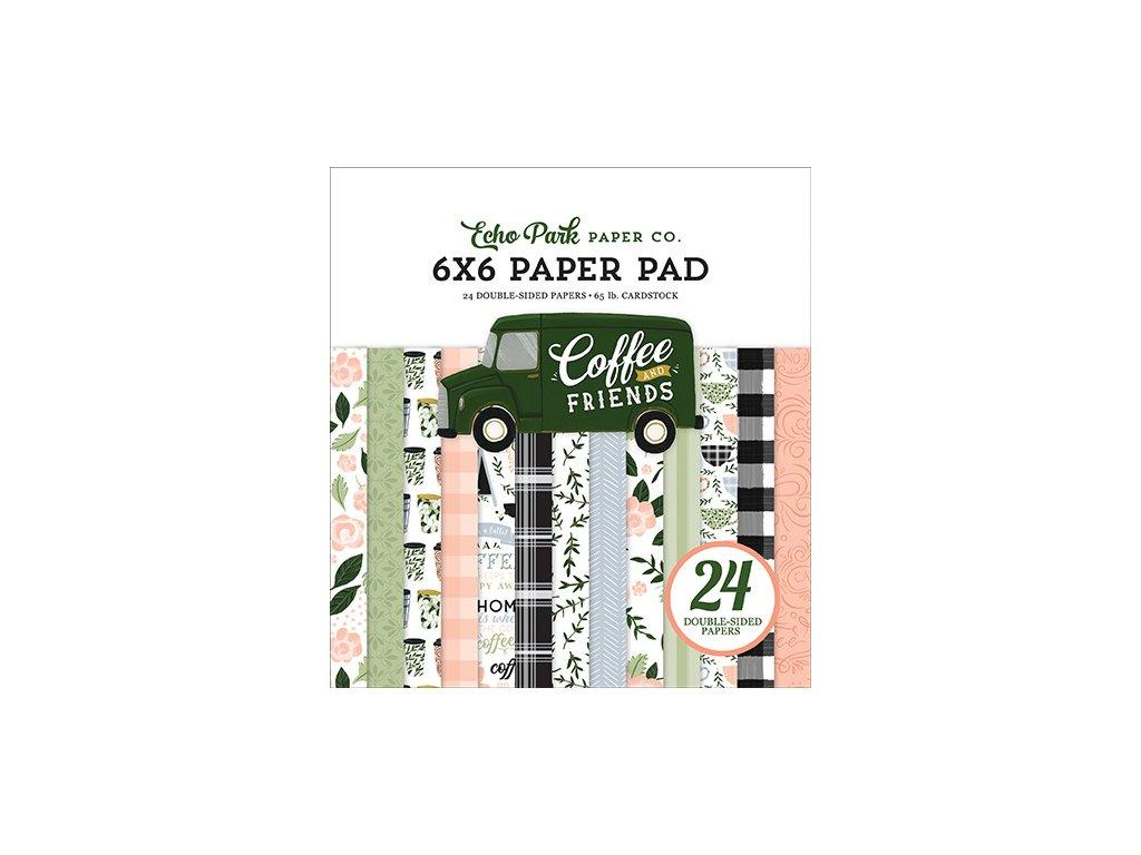 echo park coffee friends 6x6 inch paper pad cf2300