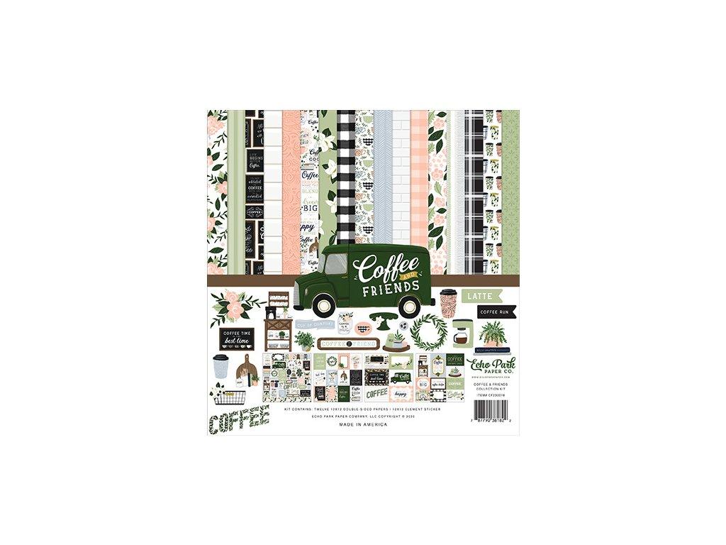 "Echo Park - COFFEE AND FRIENDS - kompletní 12""  scrapbooková sada"