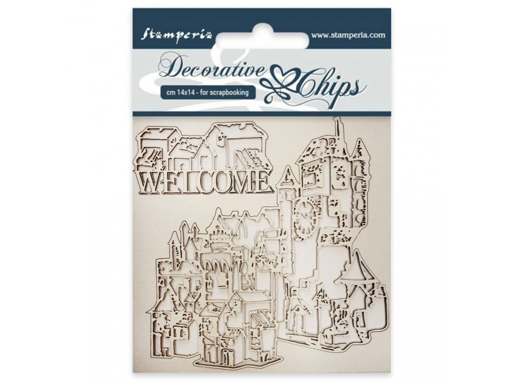 stamperia decorative chips welcome scb31