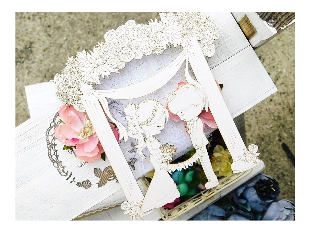 Kreatywna Pracownia - 31 / WD578 /  svatba, obřad  - kartonové ozdoby