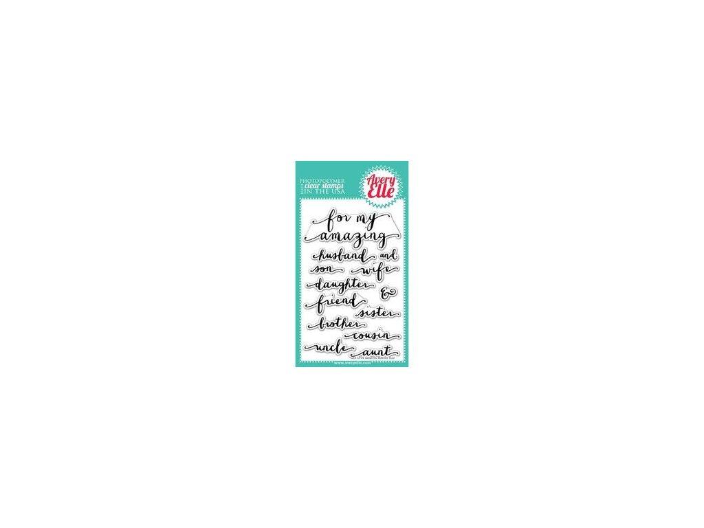 Avery Elle - AMAZING - silikonová razítka