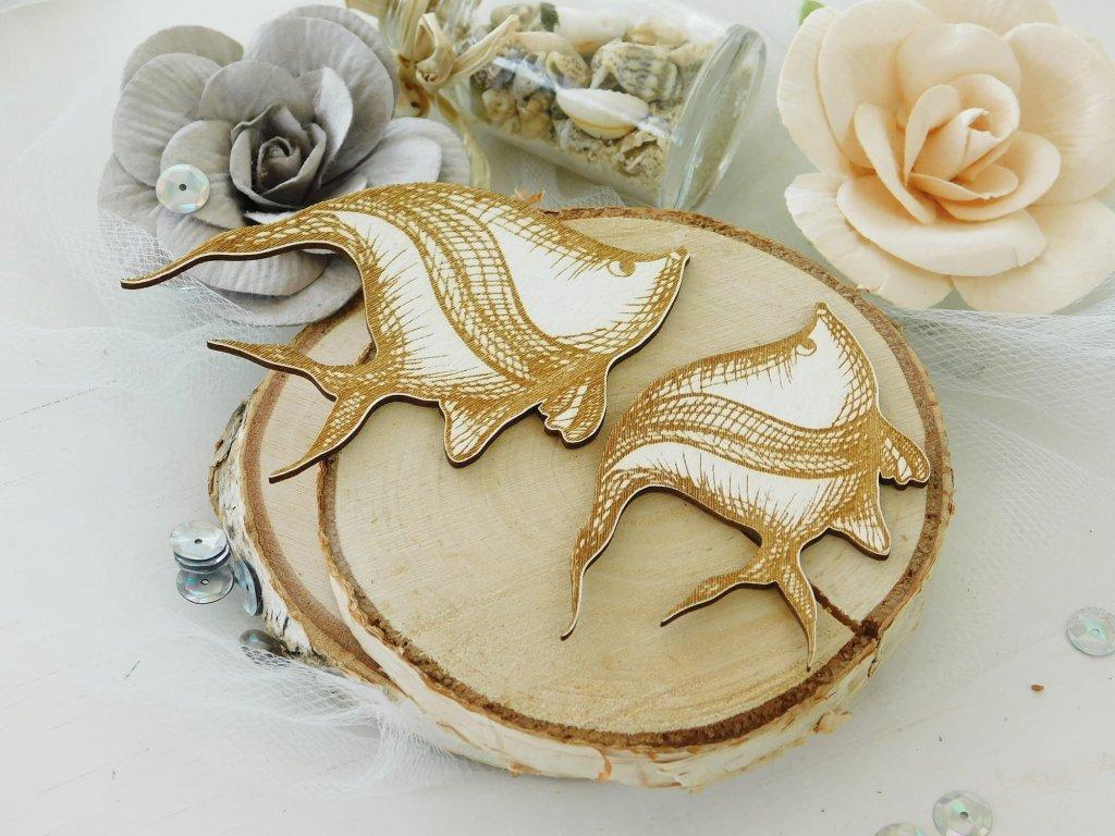 Kreatywna Pracownia - 88 / NM1839 / 2 ryby - kartonové ozdoby