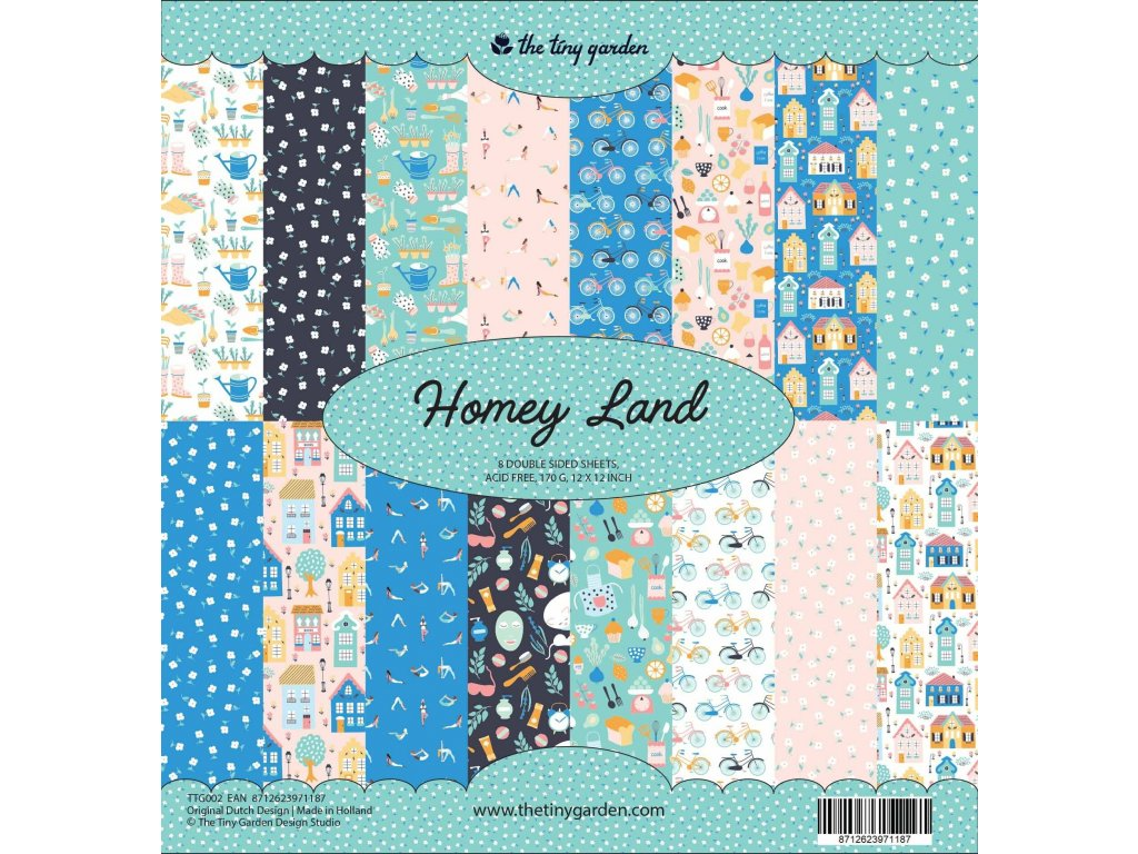 the tiny garden homey land 12x12 inch paper pack t