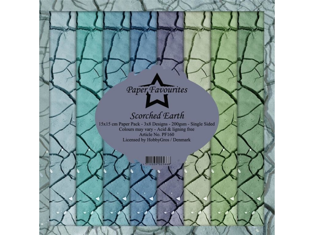 """Hobby Gros / Paper Favourites - SCORCHED EARTH - 6"""" scrapbooková sada"""