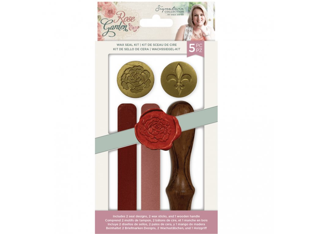 crafters companion rose garden wax seal kit s rga