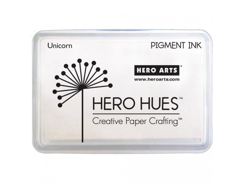 Hero Arts - HERO HUES / UNICORN - bílá pigmentová razítkovací barva