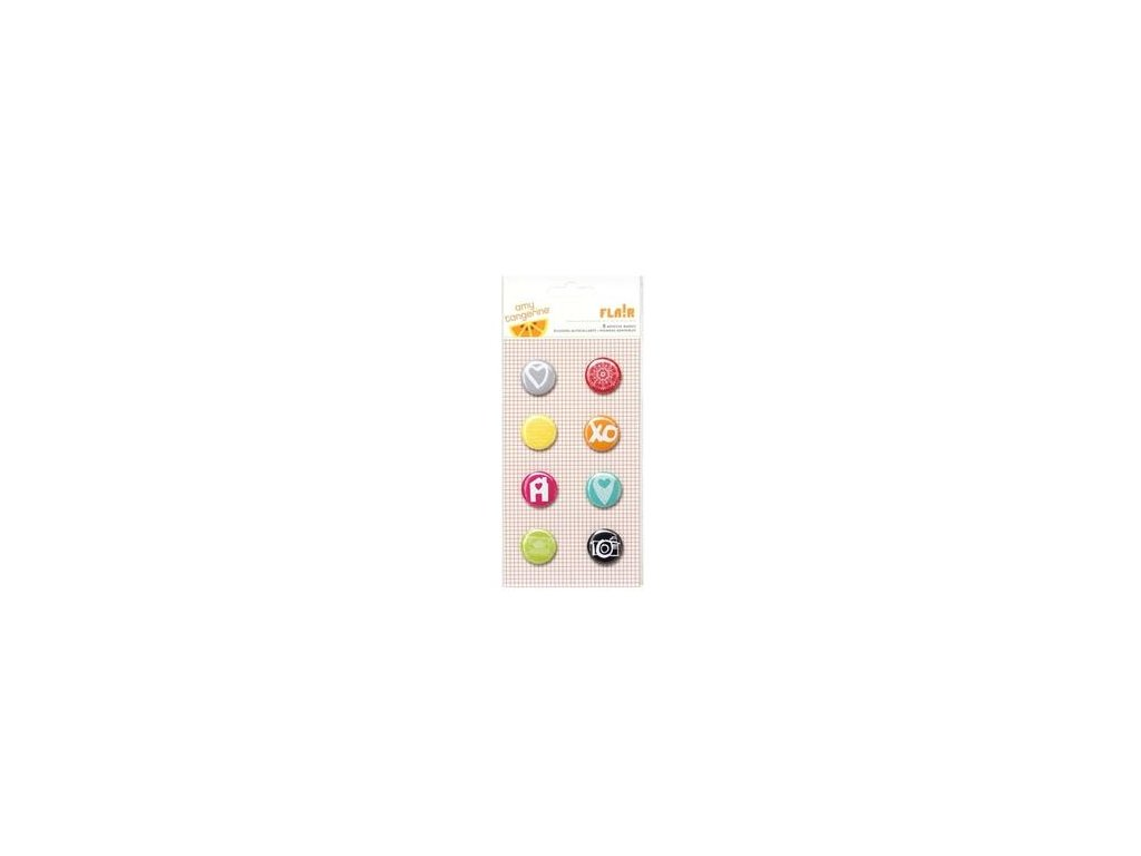 American Crafts -  ADHESIVE BADGES / 366906 - samolepicí kolečka