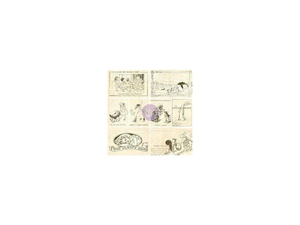 Prima  - PAINTABLES / SCHEDE  - papírové potištěné kartičky, 16 ks