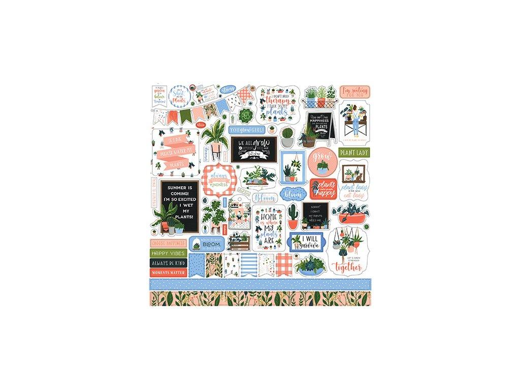 echo park plant lady 12x12 inch element sticker pl