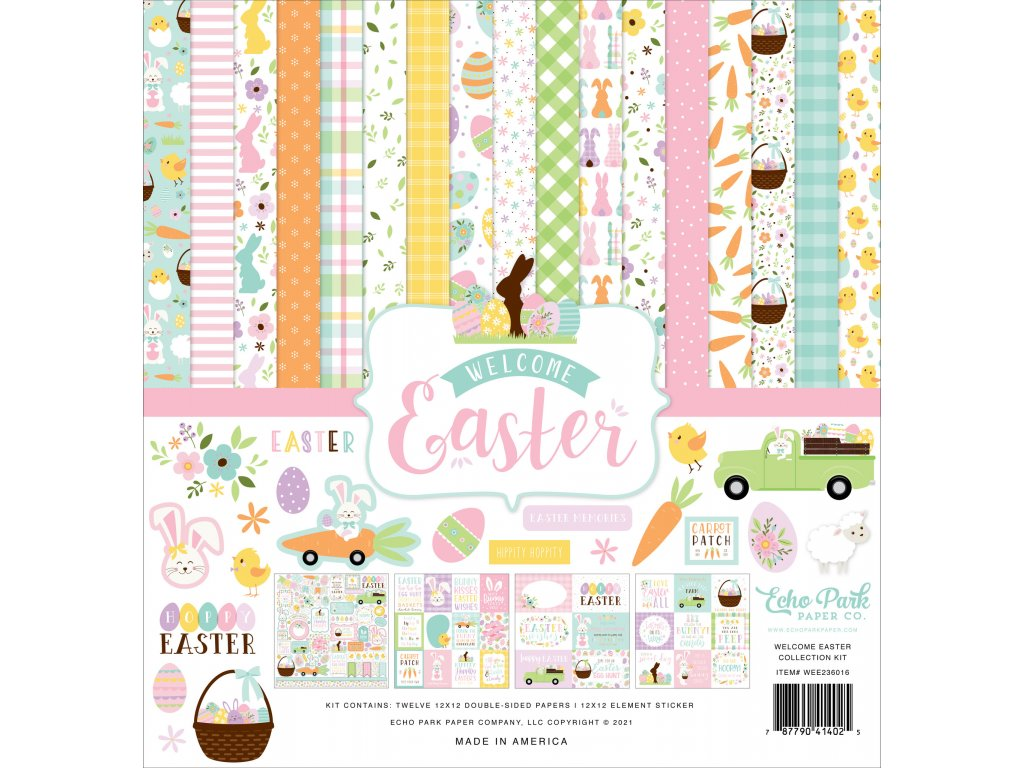 echo park welcome easter 12x12 inch collection kit