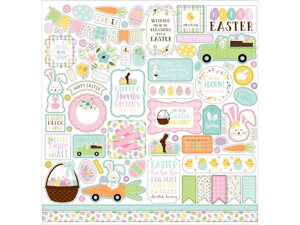 echo park welcome easter 12x12 inch element sticke