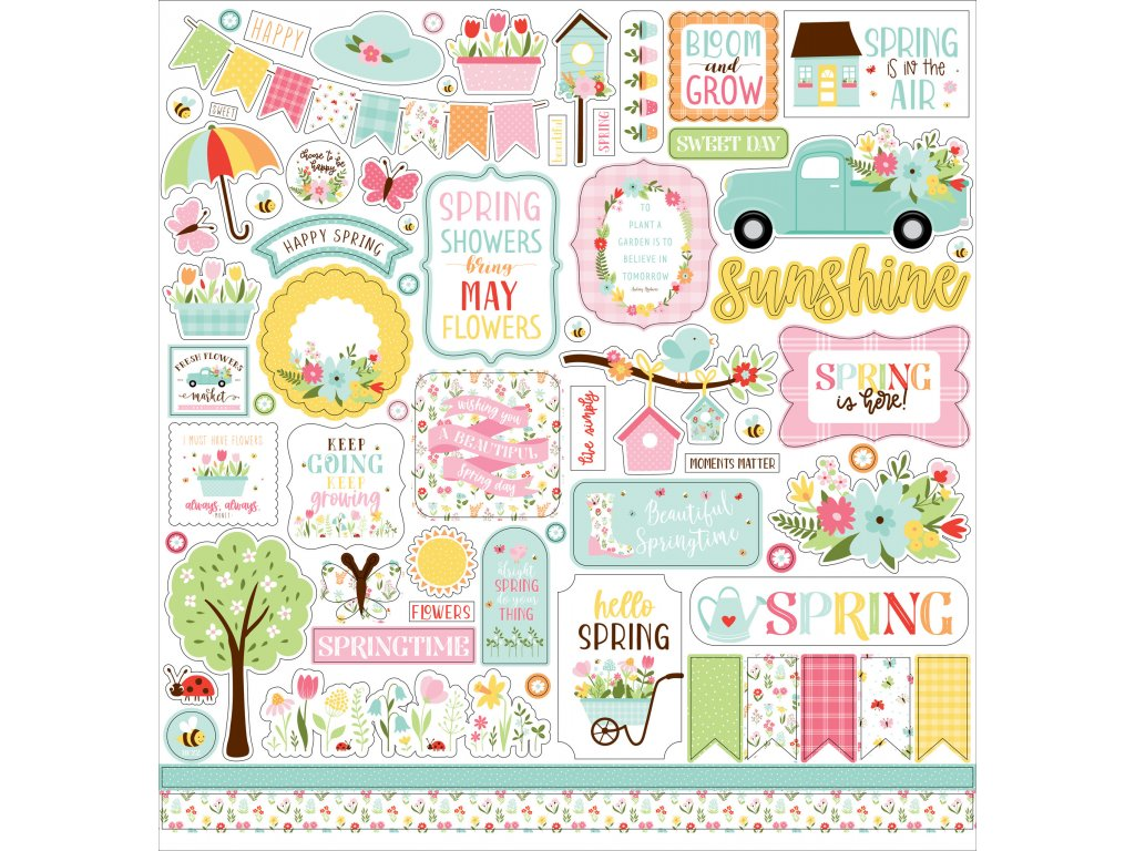 aecho park welcome spring 12x12 inch element sticke