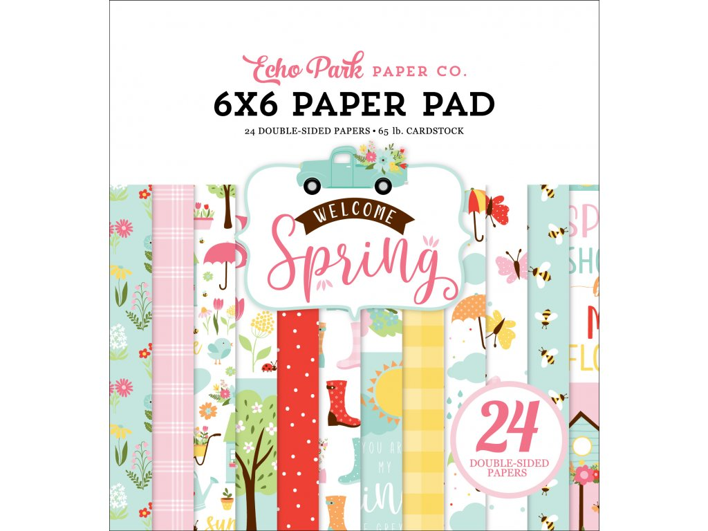 echo park welcome spring 6x6 inch paper pad wes235