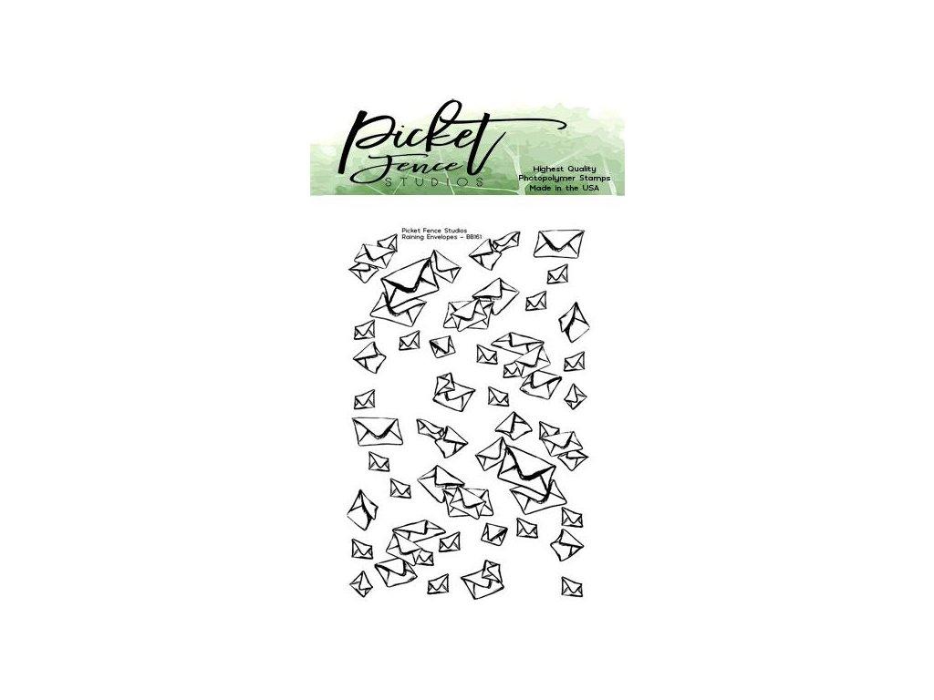 picket fence studios raining envelopes 2x3 inch cl
