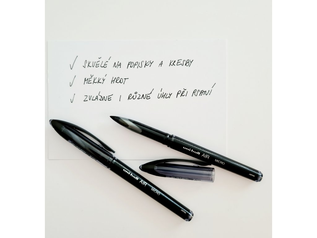Uni-Ball - AIR / ROLLER BALL PEN / 0,5 mm / UBA-188-M - černé inkoustové pero
