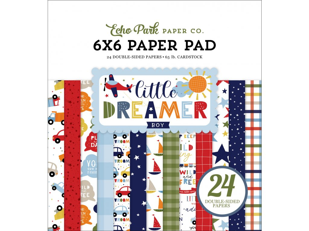 echo park little dreamer boy 6x6 inch paper pad ld