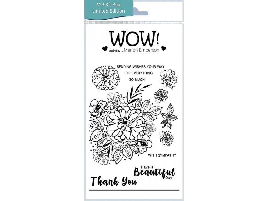 beautiful by marion emberson clear stamp set a6 3095 p