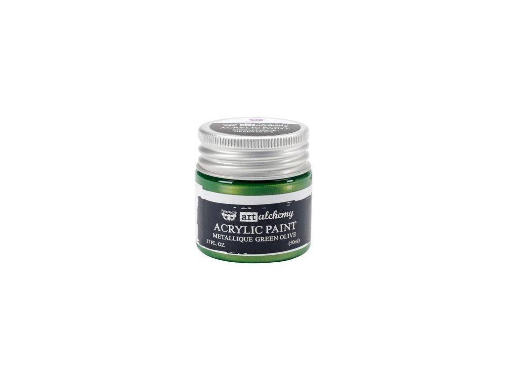 Prima - ACRYLIC PAINT / METALLIQUE / GREEN OLIVE - metalická akrylová barva