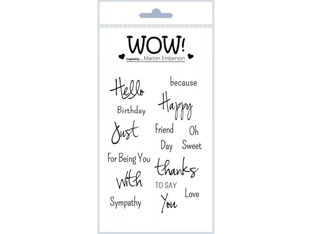 just saying by marion emberson clear stamp set a6 1629 p