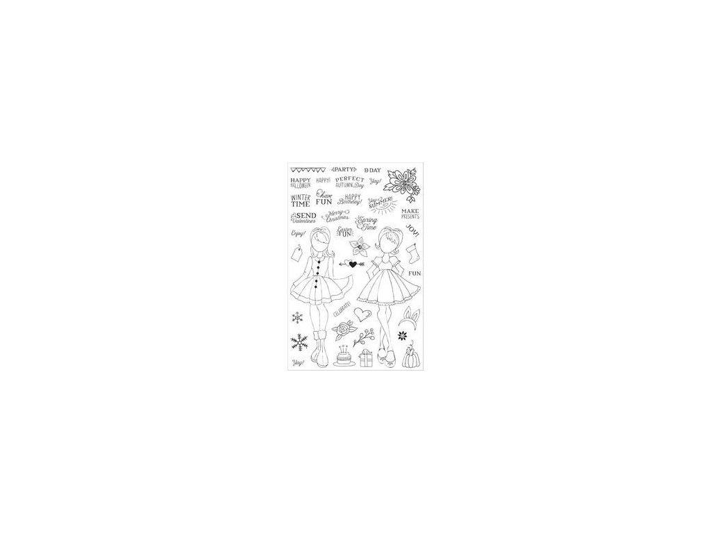 Prima - PLANNER STAMPS / HOLIDAY BLISS - silikonová razítka