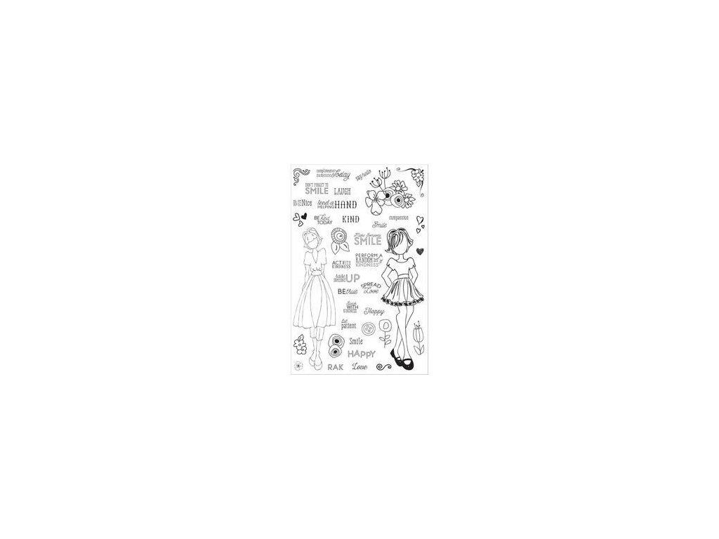 Prima - PLANNER STAMPS / MAKE KINDNESS... - silikonová razítka