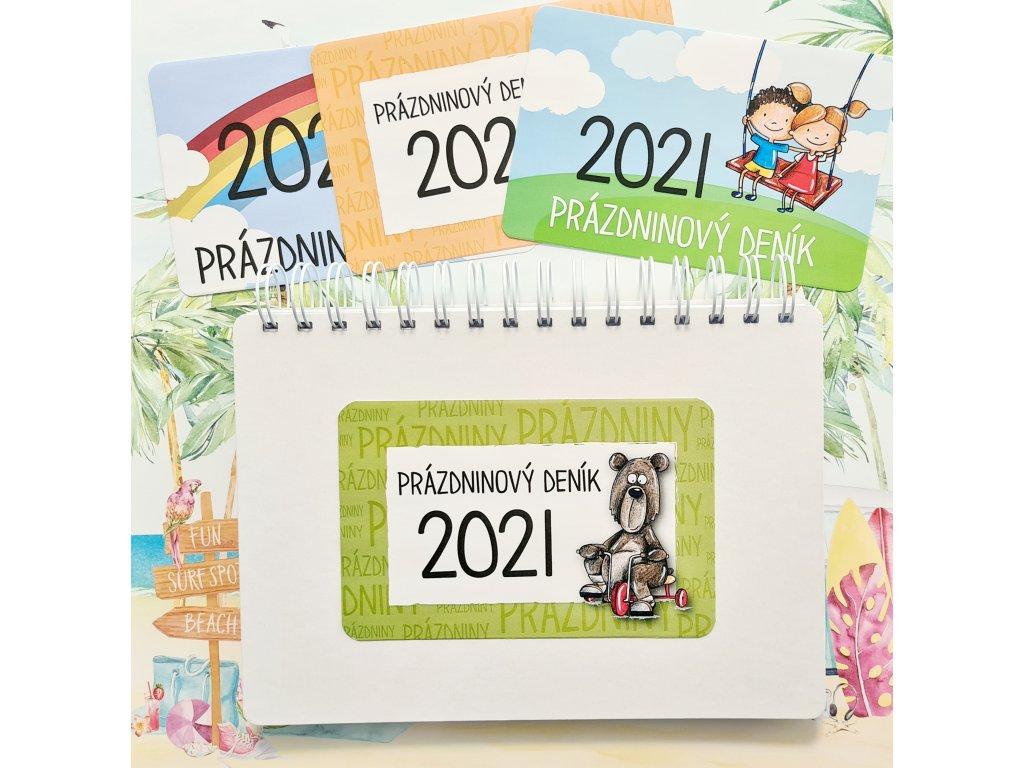 HuráPapír - PRÁZDNINOVÝ DENÍK 2021 - tištěný polotovar pro praváky i leváky  výletník
