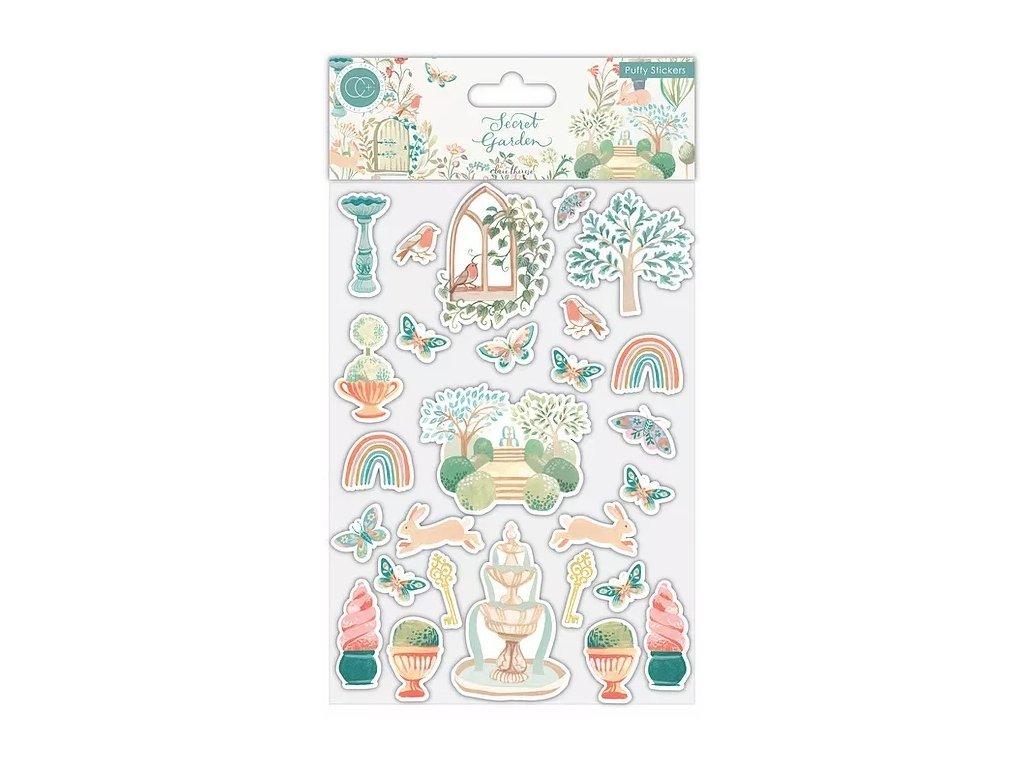 craft consortium secret garden puffy stickers ccst