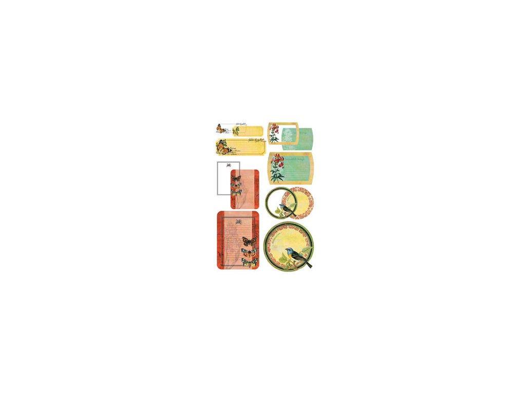 Basic Grey -TAKE NOTE/CURIO - papírové kartičky s fólií