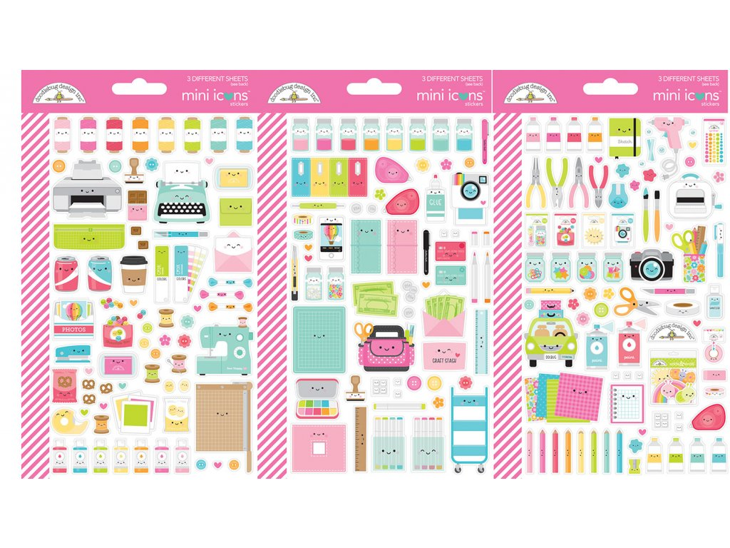 doodlebug design cute crafty mini icons sticker 72