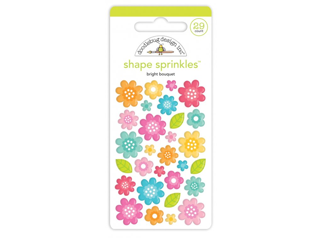 doodlebug design bright bouquet shape sprinkles 72