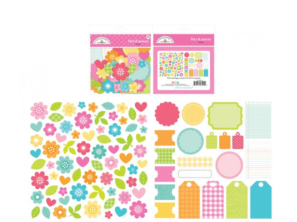 doodlebug design bright bits pieces 7404