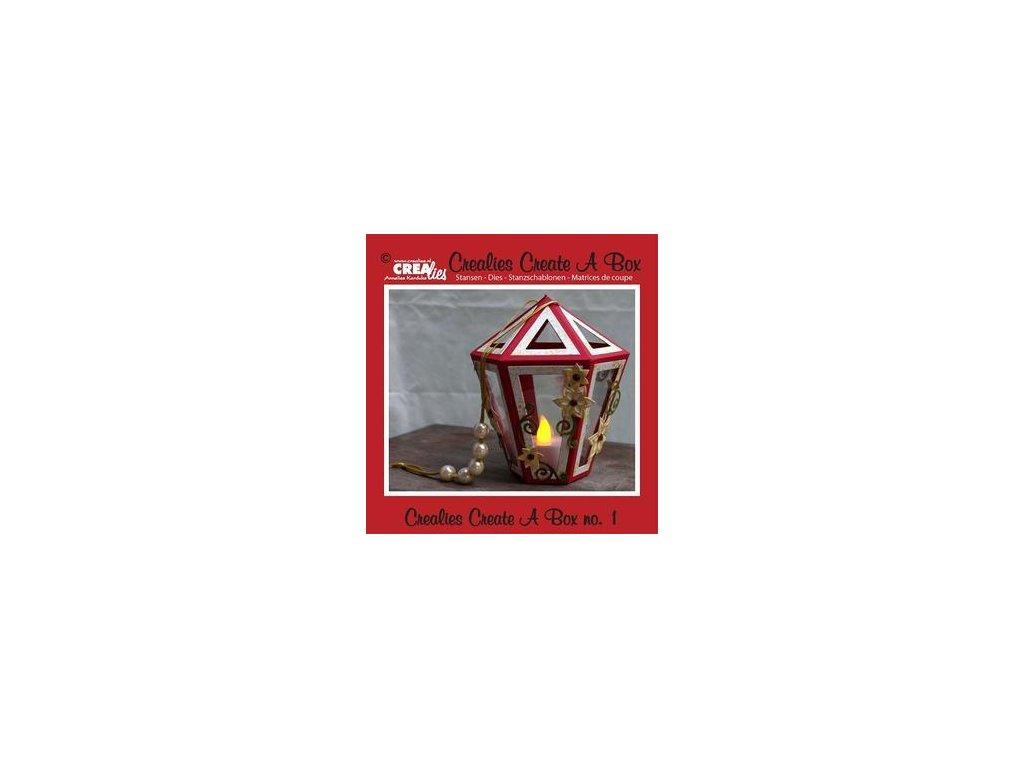 Crealies - 1 / CREATE A BOX / krabička - vyřezávací šablony pro Big Shot