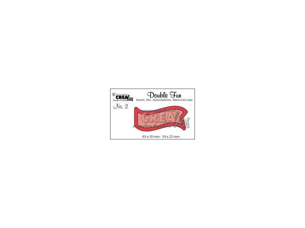 Crealies - 2 / DOUBLE FUN / vlajka - vyřezávací šablony pro Big Shot