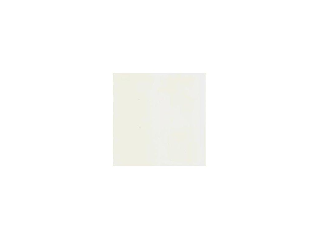 Foamiran / př. bílá - tenká pěnová guma 30 x 35 cm