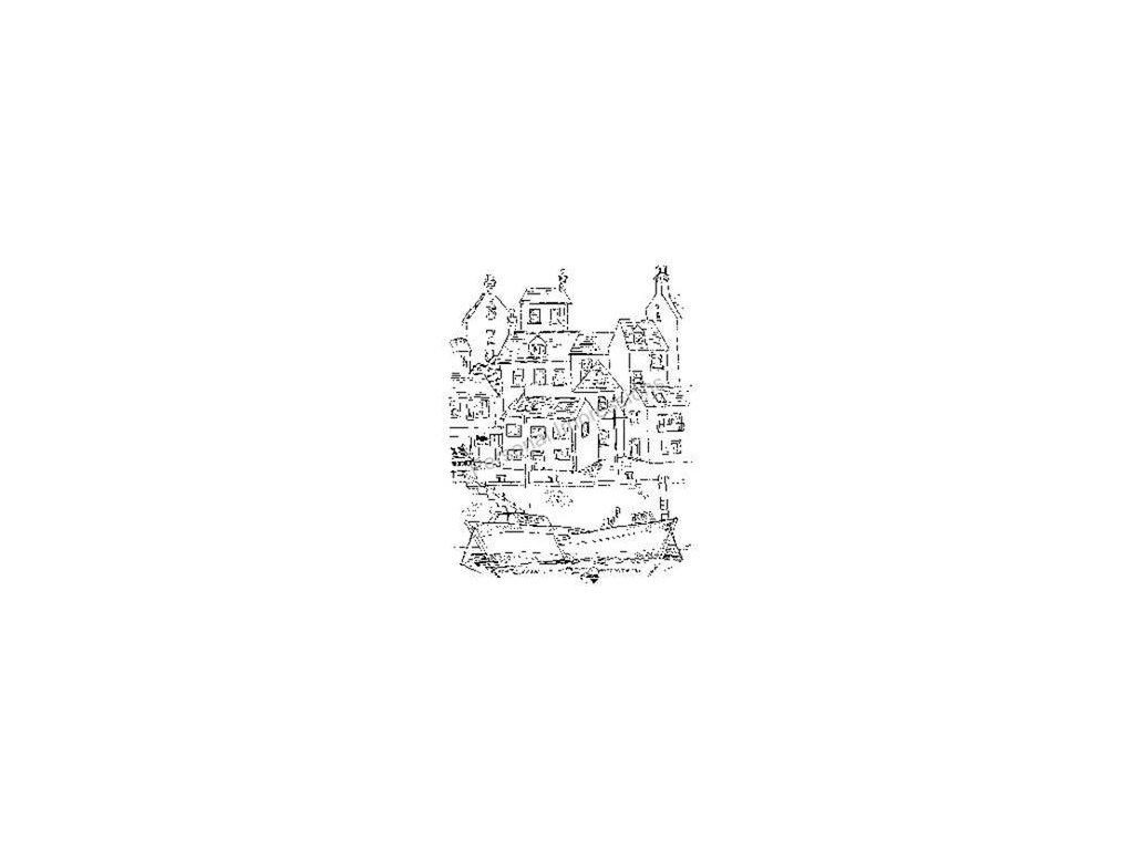 0030120 wood stamp harbour scene 325