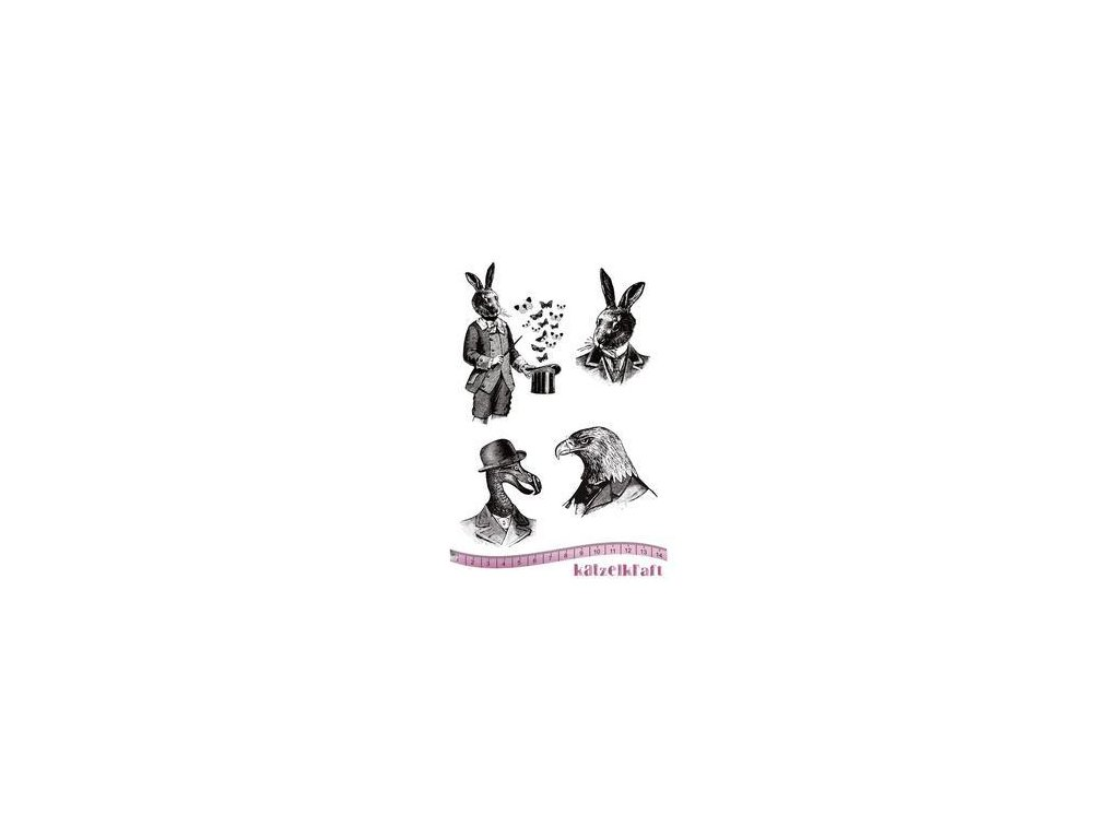 les anthropomorphes magic rubber stamp french style