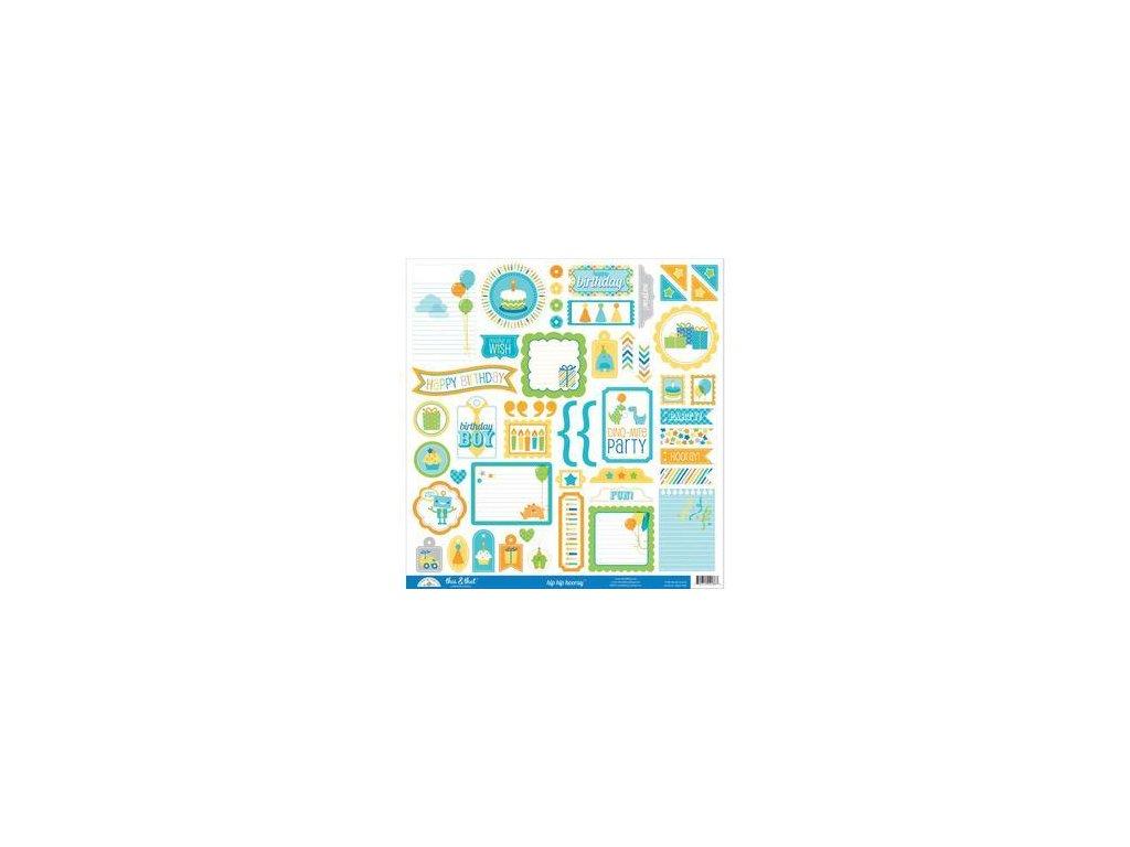 Doodlebug Design - HIP HIP HOORAY - samolepky